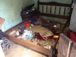Vítima tentou se esconder debaixo da cama